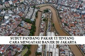 SUDUT PANDANG PAKAR UI TENTANG CARA MENGATASI BANJIR DI JAKARTA